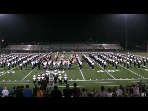 Ohio University Marching 110 post game at Athens High School 8/24/2012