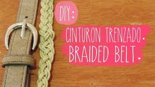 DIY: CINTURON TRENZADO / BRAIDED BELT ♥