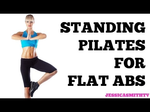 Standing Pilates For Flat Abs: 12-minute Bodyweight Only Workout video