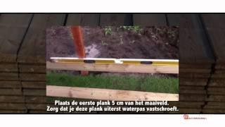 Schutting bouwen planken