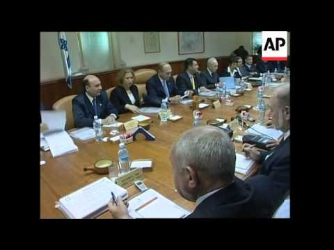 First meeting of cabinet under Ehud Olmert as PM