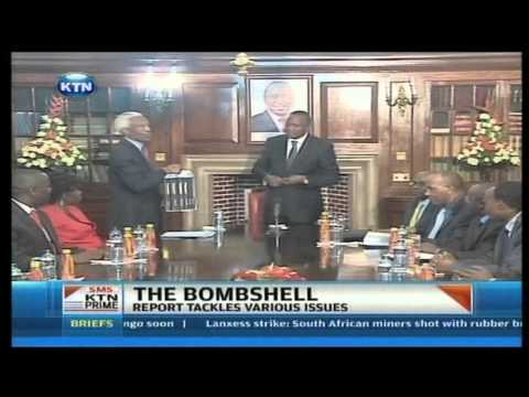 TJRC finally presents their findings as Uhuru and Ruto are mentioned
