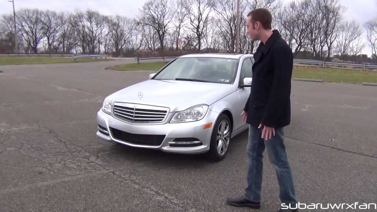 Review 2012 mercedes benz c300 4matic youtube for Mercedes benz c300 4matic 2012