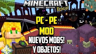 Minecraft PE 0.15.6 Mods - 1.10 PC a PE mod - End Dragon Wither Nuevos Mobs y Bloques - Pocket