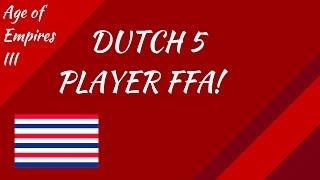 Dutch 5 Player FFA! AoE III
