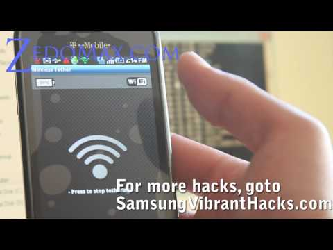 How to get FREE Wifi Tether on your Samsung Vibrant/Galaxy S!