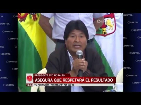 VIDEO: MORALES ASEGURÓ QUE RESPETARÁ EL RESULTADO DEL REFERENDO