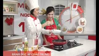 Cách chế biến Bánh đúc chiên áp chảo trứng