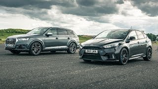 Drag Race! Audi RS4 Vs Ford Focus RS | Top Gear