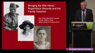 Family History Feast 2015 – Don Grant Memorial Lecture: Bruce Scates