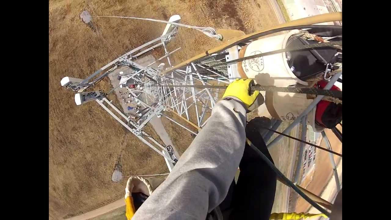 Gopro Hero2 Tower Climbing Lte Install Youtube
