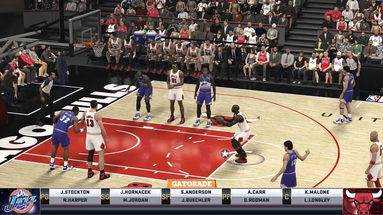 NBA 2K15 | 97-98 Bulls VS 97-98 Jazz - YouTube