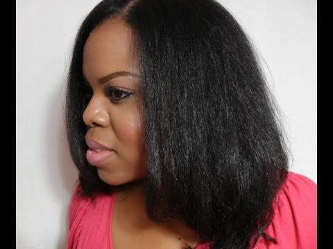 How I Blow Dry & Flat Iron Natural Hair Tutorial - SimplYounique