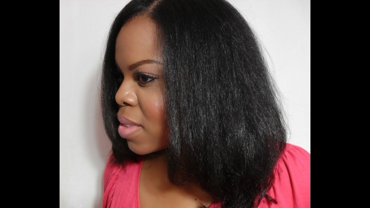 How I Blow Dry Amp Flat Iron Natural Hair Tutorial