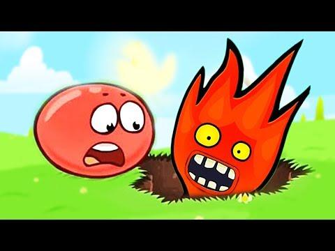 КРАСНЫЙ ШАР ПРОТИВ ОГОНЬ И ВОДА ПОДЗЕМНЫЕ ХОДЫ мультик для детей RED BALL 4 Volume 5 INTO THE CAVE