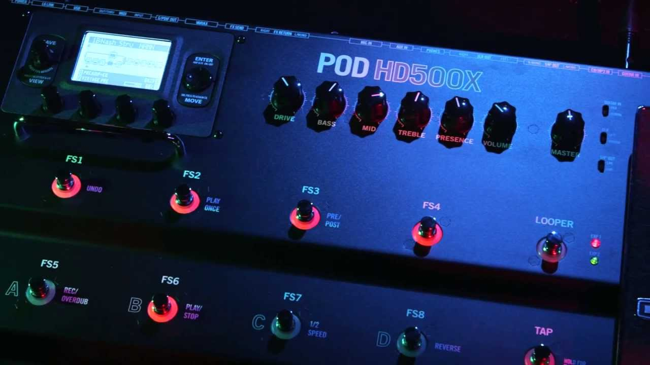 Introducing the POD HD500X Guitar MultiEffects Processor   Line 6  YouTube