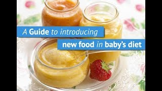 GUIDE TO INTRODUCING NEW FOOD IN BABY'S DIET