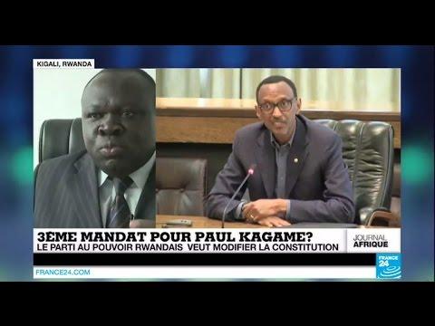 RWANDA - Un 3ème mandat pour Paul Kagamé ? Le parti au pouvoir veut modifier la constitution