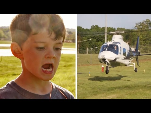 Model Dad Pulls Son's Tooth Out....With A Helicopter
