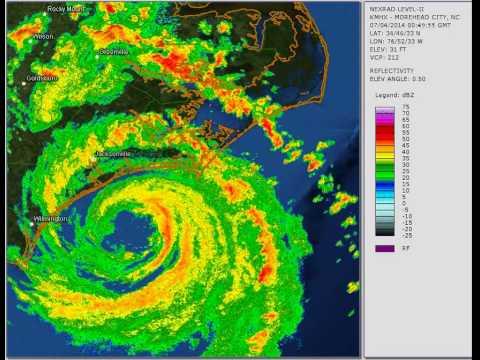 Arthur 2014: Cape Lookout, NC landfall