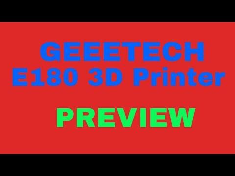 ▼ Geeetech E180 3D printer and its completely unusable EasyPrint 3D software