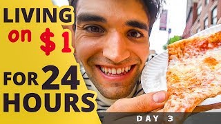 LIVING on $1 for 24 HOURS in NYC! (Day #3)