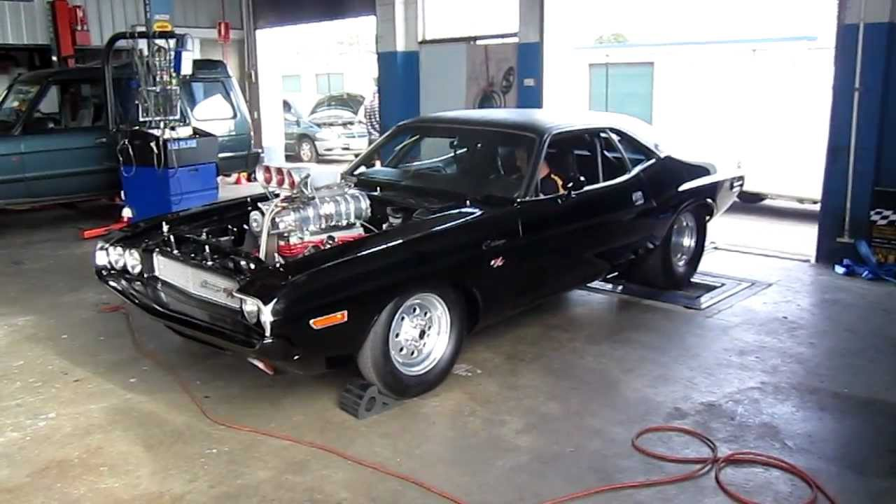 Dodge Challenger 1969 Black >> 1600hp dodge challenger dyno run ,Australia - YouTube