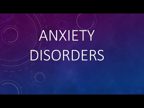 Psychiatry Lecture: Anxiety Disorders