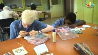 Crafts performed by visually impaired children