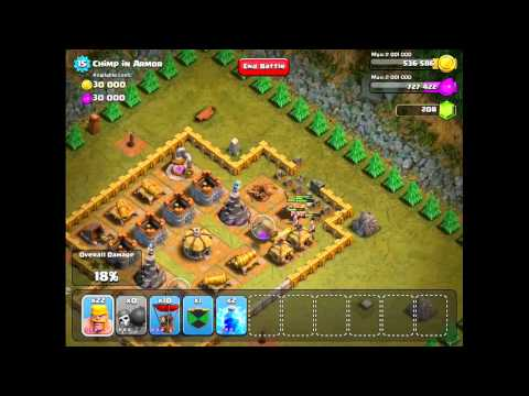 Clash of Clans Level 34 - Chimp In Armor