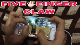 5(Five)🖐🏻Finger Handcam on Iphone 8 | PUBG MOBILE