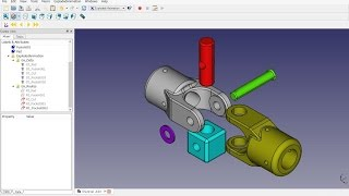 FreeCAD 0.15 (4630) Exploded Animation No.01