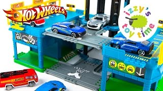 Cars for Kids   Hot Wheels Toys and Fast Lane City Center Playset - Fun Toy Cars for Kids