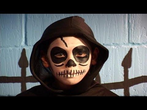 Halloween Face Paint Skull YouTube