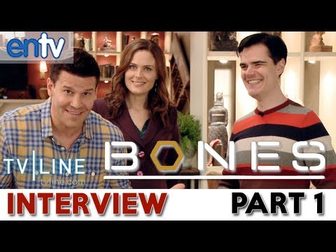 """Bones"" Set Visit: Season 9 Scoop, David Boreanaz, Emily Deschanel, Booth Brennan Wedding? Part 1"
