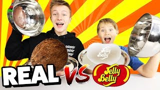 REAL FOOD vs. JELLY BEANS 😁 TipTapTube