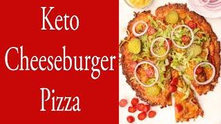 Keto Cheeseburger Pizza using Carnivore Pizza Crust