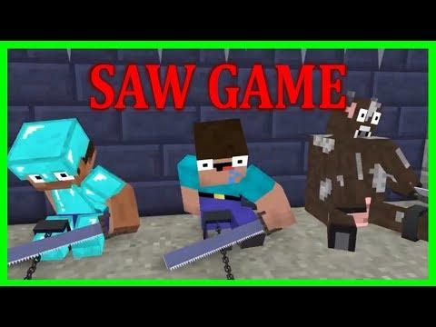 Monster School - NOOB & PRO The SAW Challenge - Minecraft Animation