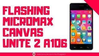 How to Flash Micromax Unite 2 A106 Stock Rom | SP Flash Tool | Mediatek | Smartphone Flashing