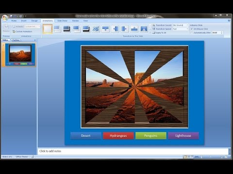 Powerpoint training |How to make and use the action button in the animation image