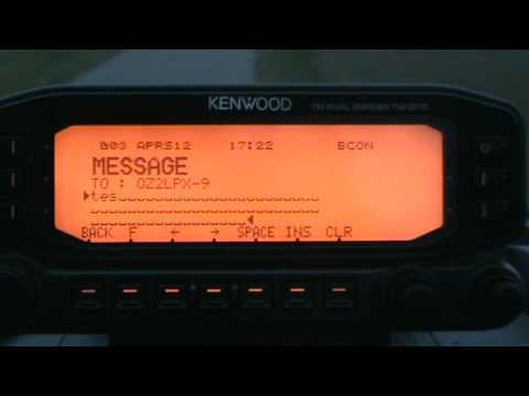 Message via APRS on Kenwood TM D 710 E