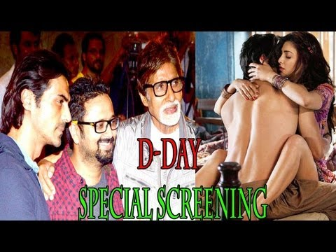 Amitabh Bachchan Spotted  Screening Of The Film 'd Day' video