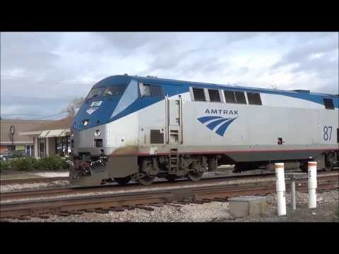 Amtrak 97 Silver Meteor in Jesup, GA 1/9/14