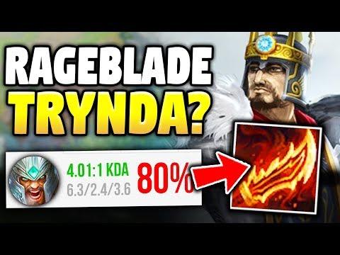 THIS RAGEBLADE TRYNDAMERE SPLIT PUSH STRATEGY IS 100% BROKEN - League of Legends