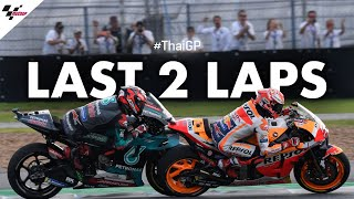 The Champ vs the rookie, their last 2 laps of the 2019 #ThaiGP!