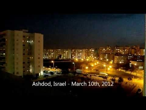Grad Missile Attack On Ashdod Israel From Gaza, March 10th, 2012