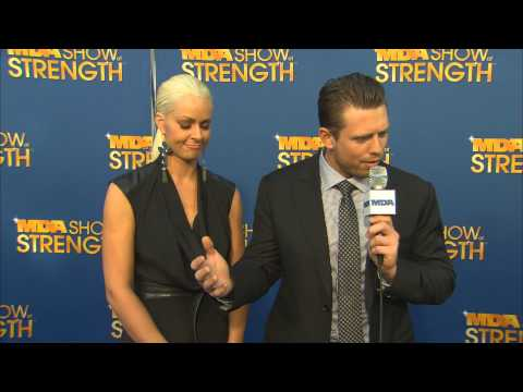 MDA SHOW of STRENGTH: Mike 'The Miz' & Maryse Ouellet Blue Carpet Interview