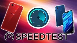 #SPEEDTEST Honor Play và Oppo F7 cùng tầm giá MTK hay Kirin ?