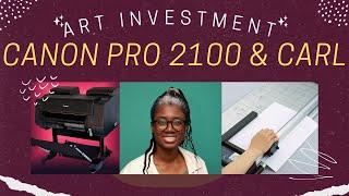 "????Art Investment! Canon imagePROGRAF Pro-2100 24"" & Carl DC-250????"