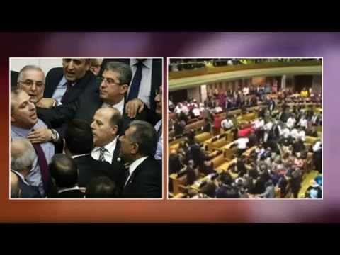 Is this the best way for parliament? Turkey parliament in Chaos
